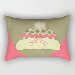 the winter hat which wanted the summer to come faster!  Rectangular Pillow
