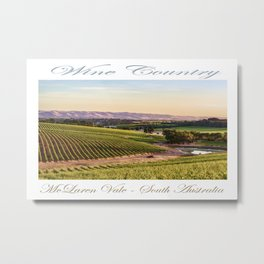 Wine County - McLaren Vale, South Australia Metal Print
