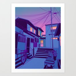 Kyoto Alley Kunstdrucke