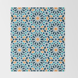 Tile of the Alhambra Throw Blanket