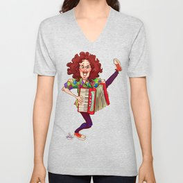 Alfred (Weird Al) Yankovic and Harvey the Wonder Hamster Unisex V-Neck