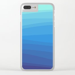 Ocean Waves Gradient Clear iPhone Case