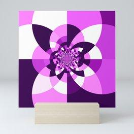 Purple Kaleidoscope Mandala Mini Art Print