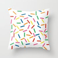 sprinkles Throw Pillows featuring Sprinkles by Gold Collective