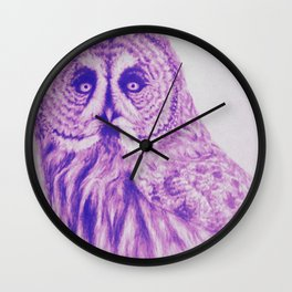 Wise Old Owl Wall Clock
