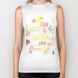 170722 Colour Living 28  |Modern Watercolor Art | Abstract Watercolors Biker Tank