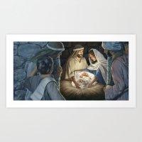 The Shepherds Arose Art Print