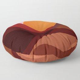 Abstraction_Mountains_SUNSET_Minimalism Floor Pillow