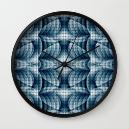 Blue&Grey Abstract Pattern Wall Clock