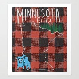 Minnesota Lumberjack Art Print