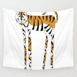 Long legs Tiger Wall Tapestry