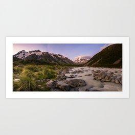 Sunset at Mt Cook NP Art Print