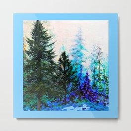 BLUE MOUNTAIN PINES LANDSCAPE Metal Print