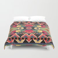 david Duvet Covers featuring B / O / L / D by Bianca Green