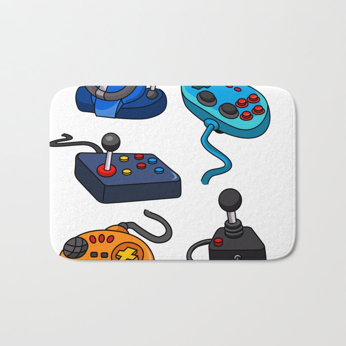 Video Game  Controls Bath Mat