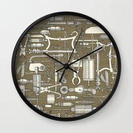 fiendish incisions sage Wall Clock