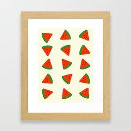 Summer Watermelons Framed Art Print