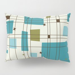 Mid-Century Modern (teal) Pillow Sham