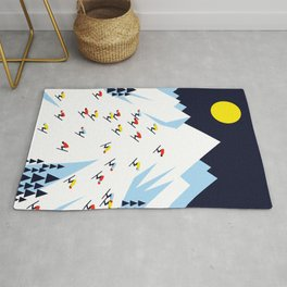 THE MOUNTAINS. NIGHT. Rug