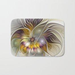 Abstract Fantasy Flower Fractal Art Bath Mat