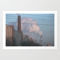 moscow Art Prints featuring Moscow by Misha Lu