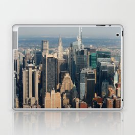 New York city skyscrapers - helicopter view Laptop & iPad Skin