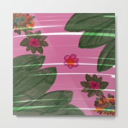 Hand made flowers Metal Print