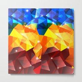Polygon Ron Metal Print