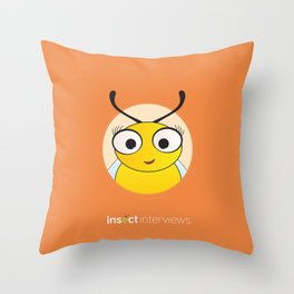 Becky the Bee Throw Pillow