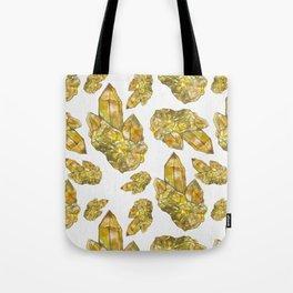 Citrine November Birthstone Watercolor Tote Bag
