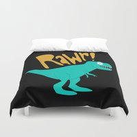 dino Duvet Covers featuring Dino by Chelsea Herrick