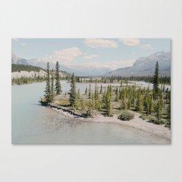 blue river winding Canvas Print