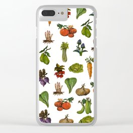 Vegetables Pattern Clear iPhone Case