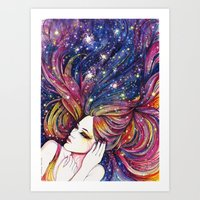 haven hair Art Print