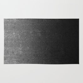 Silver & Black Glitter Gradient Rug