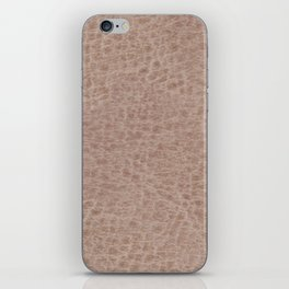 Beige leather cloth texture abstract iPhone Skin