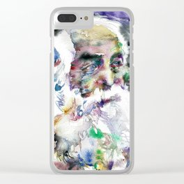 WALT WHITMAN - watercolor portrait .2 Clear iPhone Case
