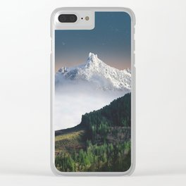 white mountains #society6 #decor #buyart Clear iPhone Case