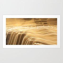 strokes of light Art Print
