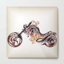 Abstract Motorcycle Metal Print
