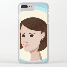 Short Hair Don't Care Clear iPhone Case