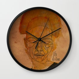 The woman with the black necklace Wall Clock