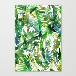 VIBE of the Jungle  {A-green} Canvas Print