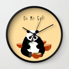 Oh My Gut! Wall Clock