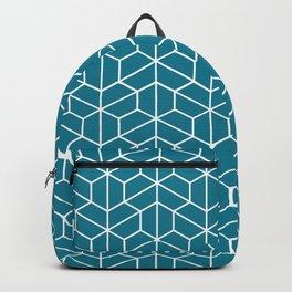 Blue hexagons Backpack
