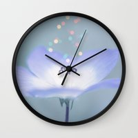 wonderland Wall Clocks featuring Wonderland by Jamesy (happypastel)