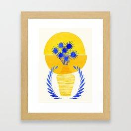 Summer Sunset Flora Framed Art Print