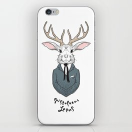 Epistolarus Lepus (milk) iPhone Skin