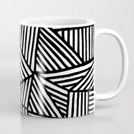 Black Brushstrokes Coffee Mug