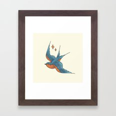 Swallow Flash  Framed Art Print